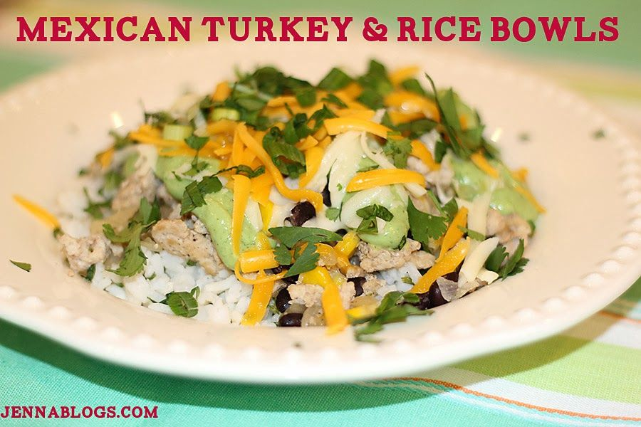 Mexican Turkey And Rice Bowls