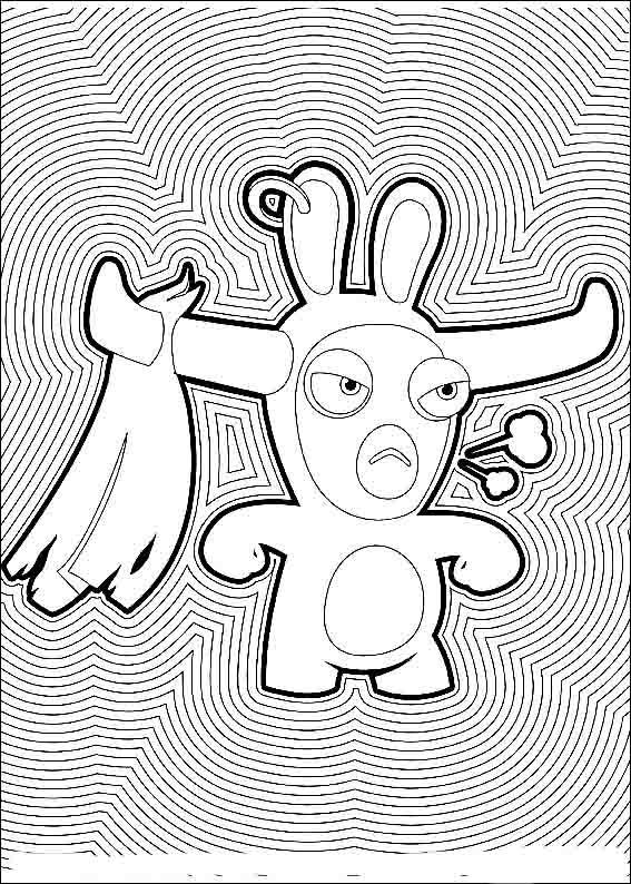 Rabbids Invasion Coloring Pages 10 | Coloring pages for kids | Pinterest