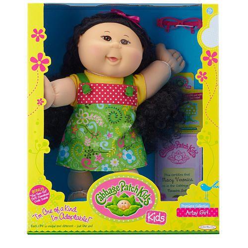 "Cabbage Patch Kids Doll - Black Hair - Artsy Girl - Jakks Pacific - Toys ""R"" Us"