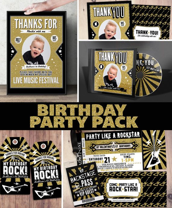 Pop star Rock Star concert ticket birthday party by LyonsPrints - concert ticket birthday invitations
