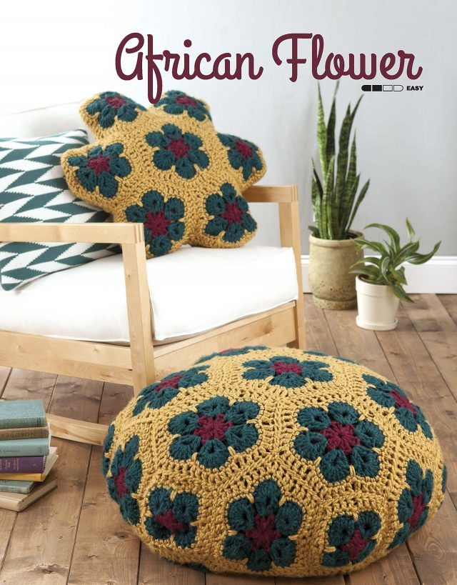 Poufs And Pillows Crochet Book Review Poef Crochet Crochet