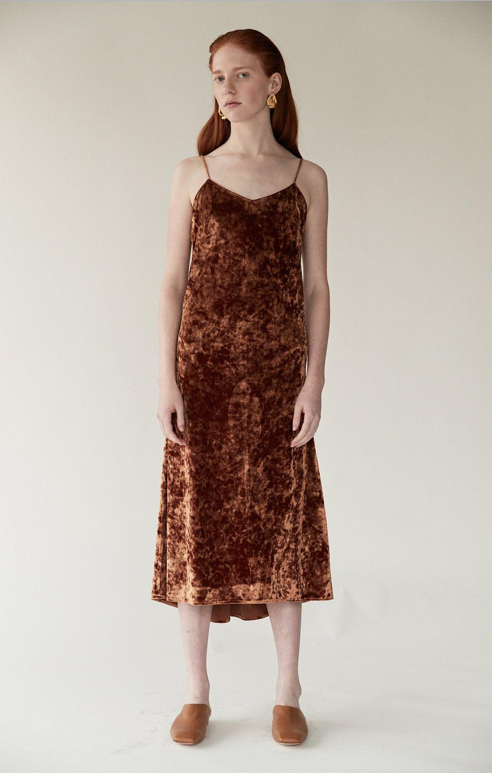 9931f438f1 Pin by Mijeong Park on FW18 | Velvet slip dress, Velvet, Dresses