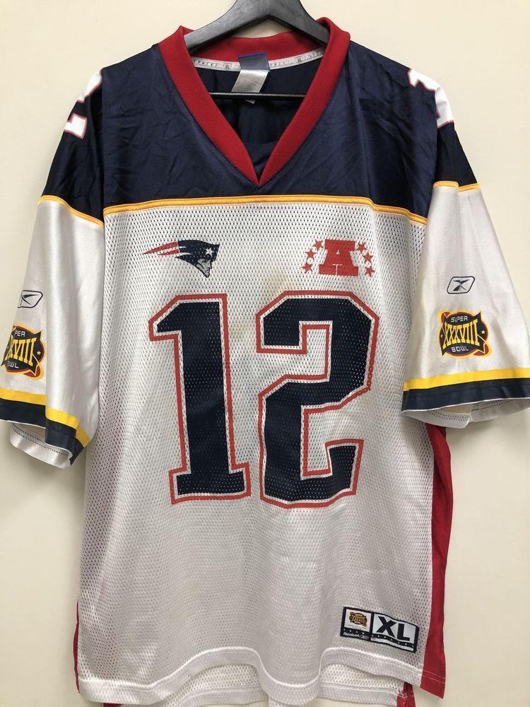 b9c611b74db Reebok Superbowl New England Patriots Tom Brady Jersey 727173217065 | eBay