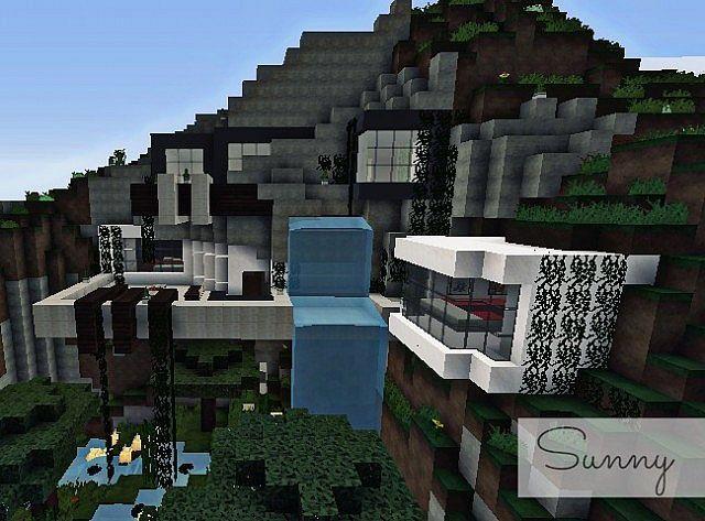 Modern Mountain house Sunny WoA 50 SUBS SPECIAL Minecraft