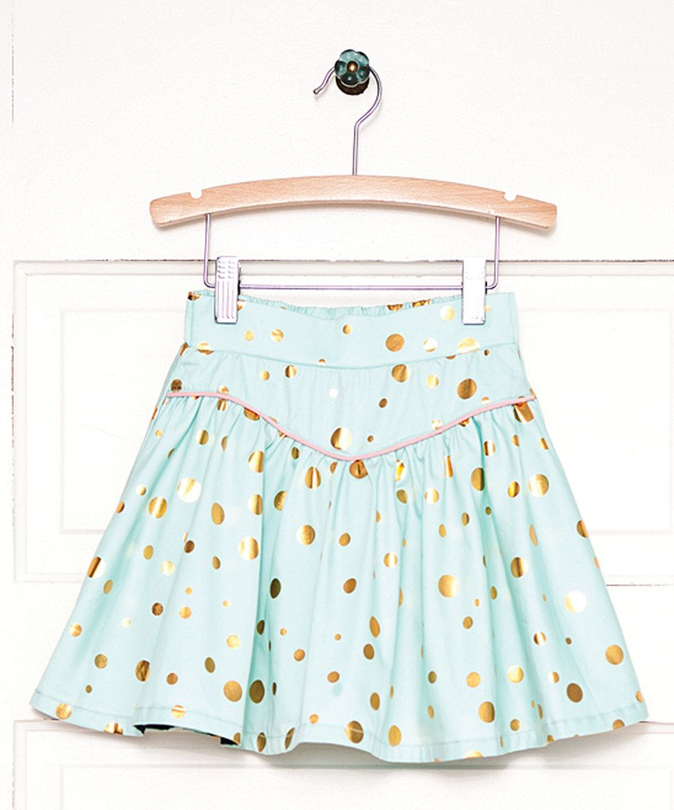 Another great find on #zulily! Blue Gilded Greens A-Line Skirt - Toddler & Girls by Matilda Jane Clothing #zulilyfinds