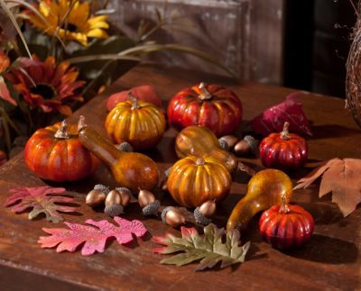 Metallic Pumpkin & Leaves Filler Item #: 118360 $9.99
