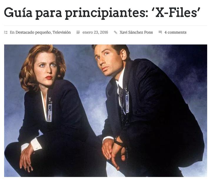 Guía para principiantes : X-Files / @caninomag | #scifi