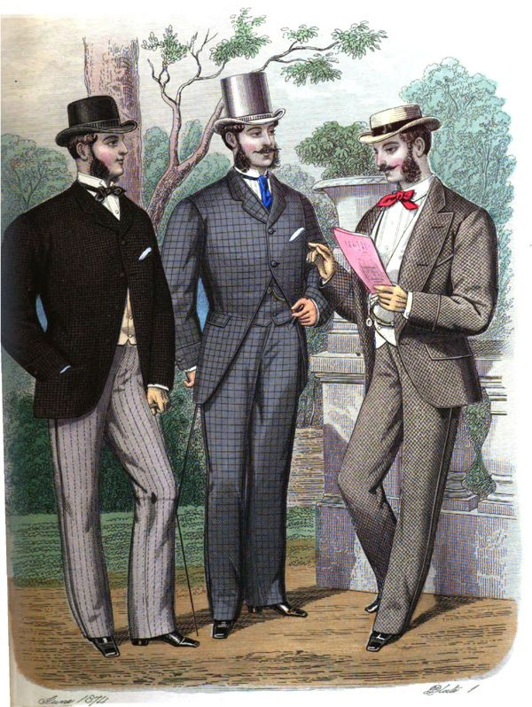 1870 1890 full line of mens late victorian style
