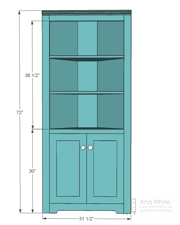 Corner Bookcase Plans | ... Itu0027s A No Brainer To Modify The Corner Cupboard