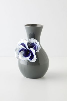 Pretty Pansy Vase, Tall - Anthropologie