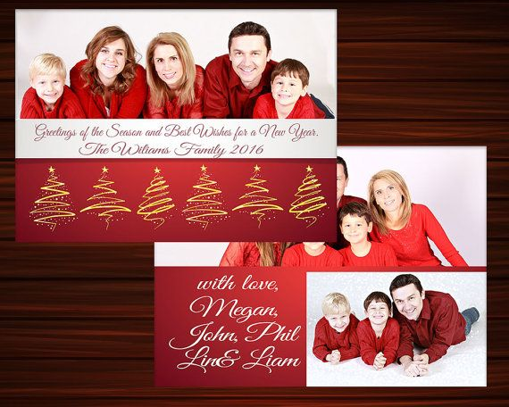 Digital Photoshop Christmas Card Template for by LoveArtsStudio