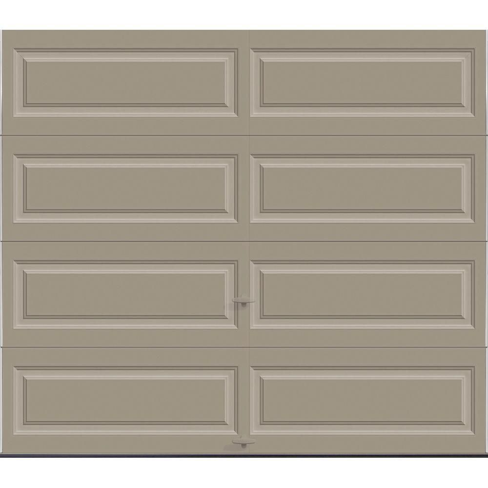 Clopay Classic Collection 8 Ft X 7 Ft 12 9 R Value Intellicore Insulated Solid Sandstone Garage Door With In 2020 Garage Doors Garage Door Styles Garage Door Windows