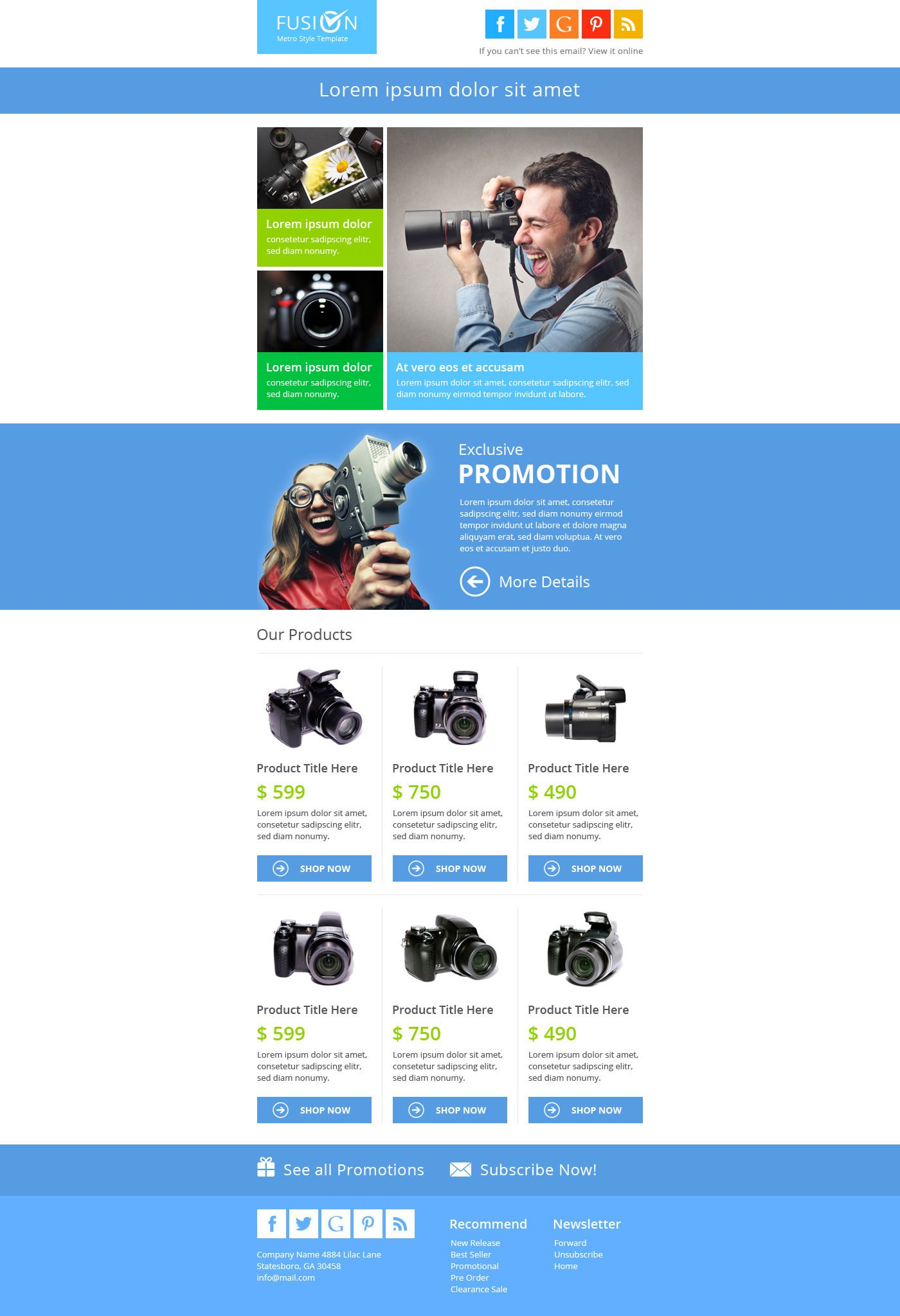 Fusion metro email newsletter template #metro, #fusion, #email.