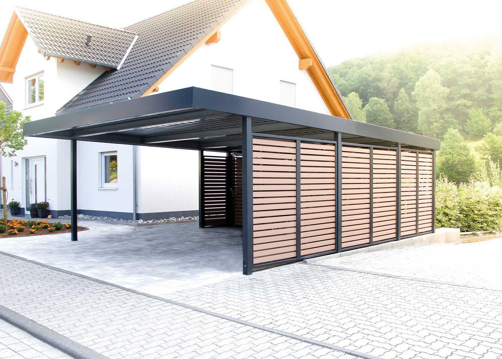 Carport Mit Wandfelder Als Sichtschutz Als Carport Mit Pergola Pergola Modern Pergola Screen Pergola Wall Sicht In 2020 Carport Carport Designs Pergola Carport