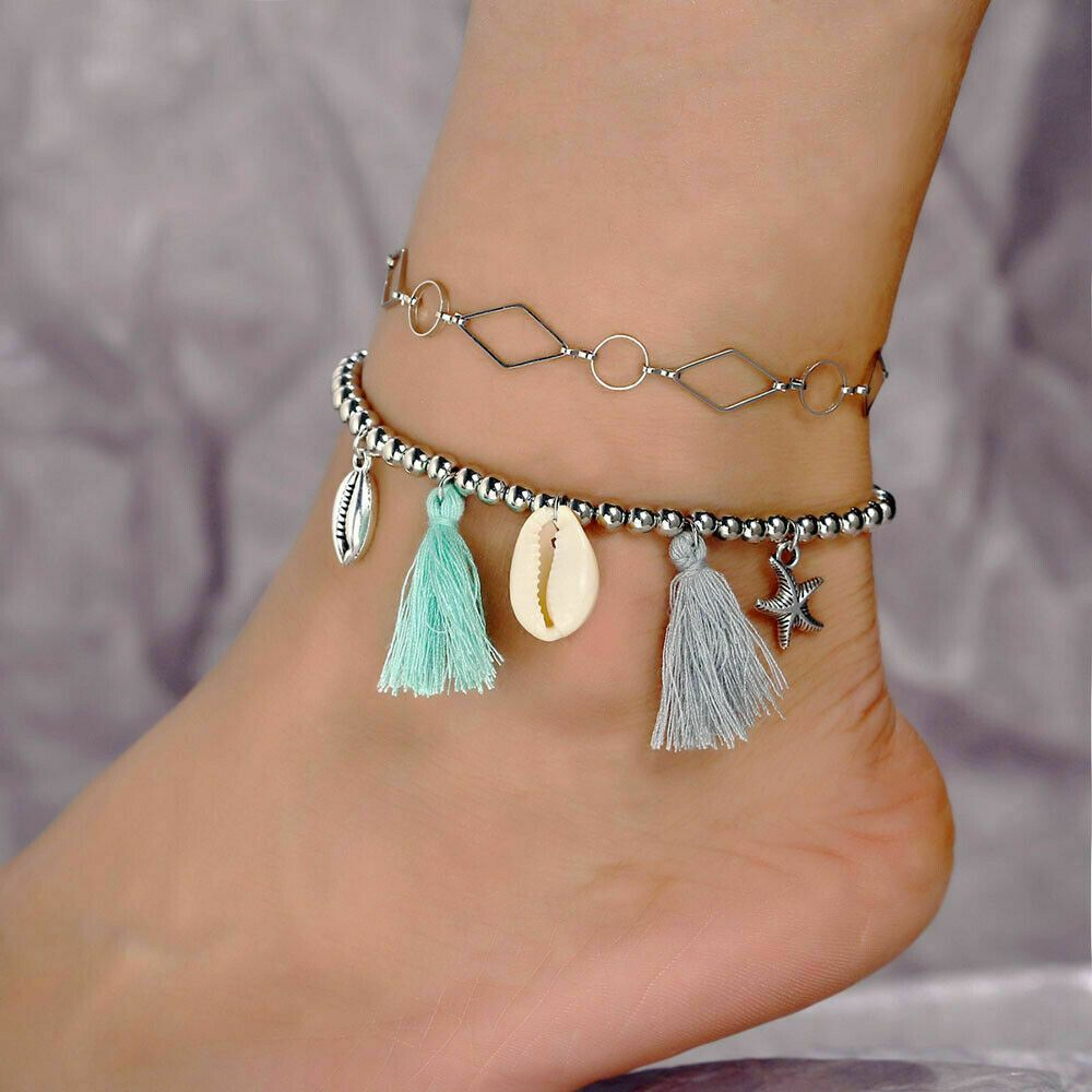 Boho Shell Conch Star Ankle Bracelet Anklet Chain Foot Beach Jewelry Gift