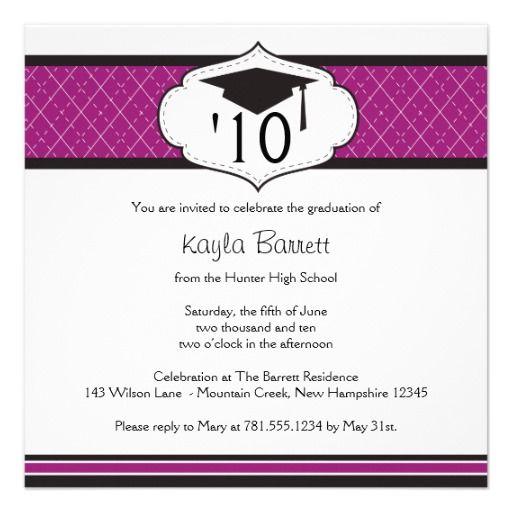20xx Graduation Invitation Personalize Special promotion