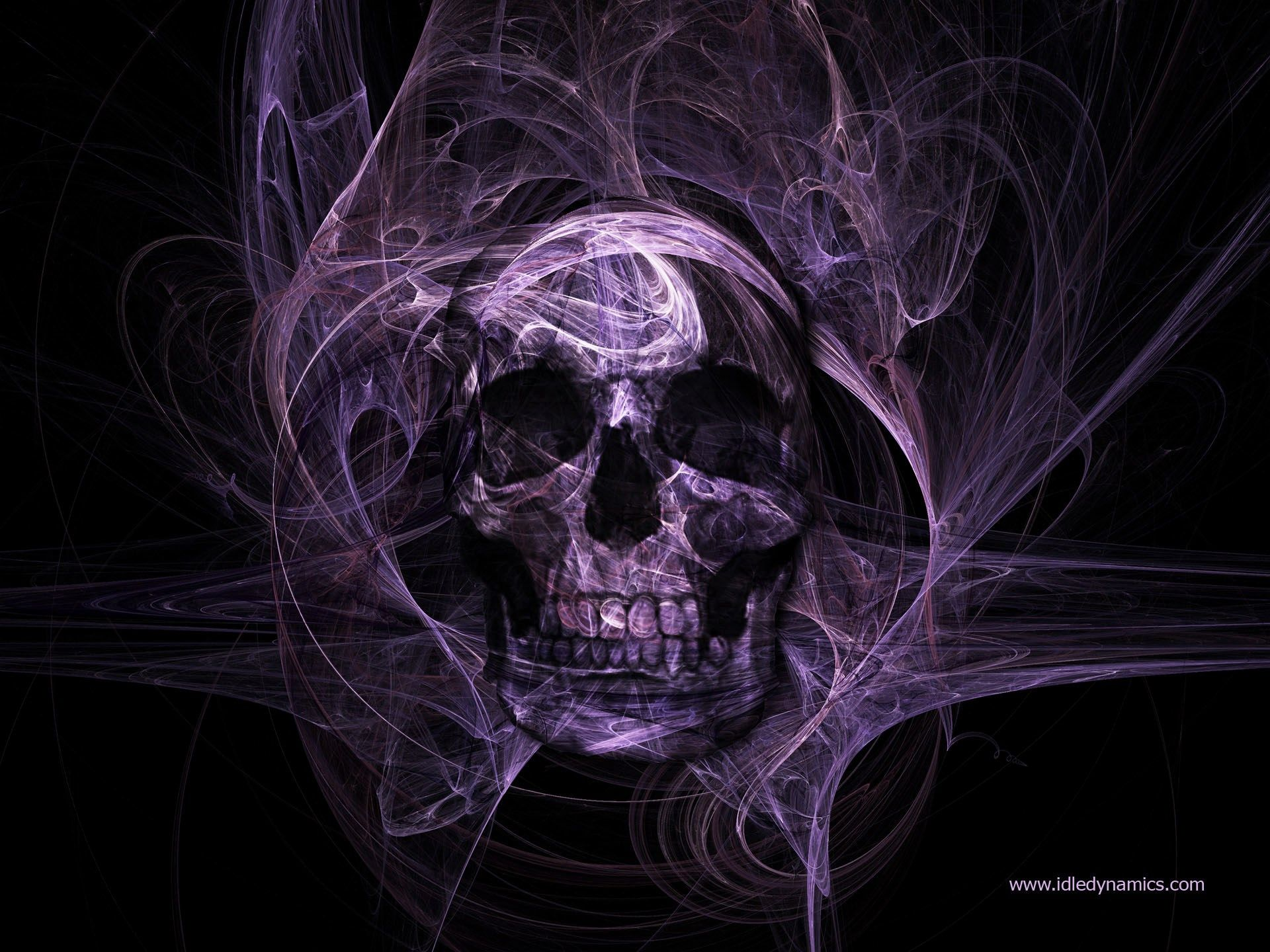 Free skull backround, 519 kB Grayson Black Skull
