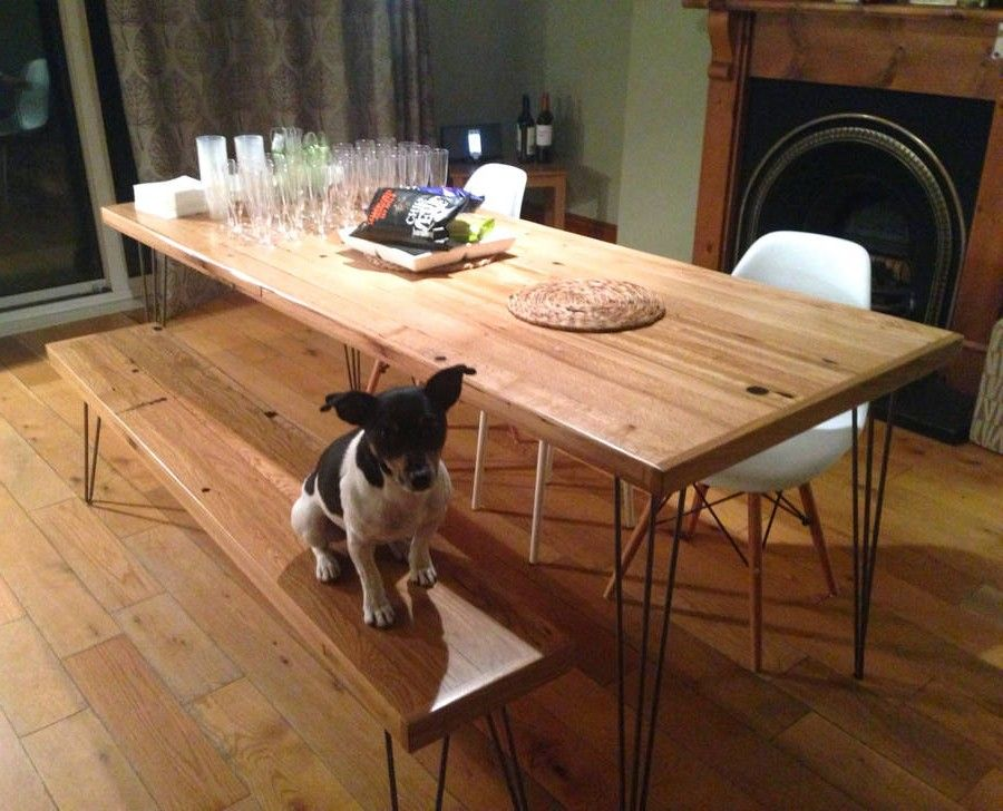 Gallery For Diy Dining Table Hairpin Legs