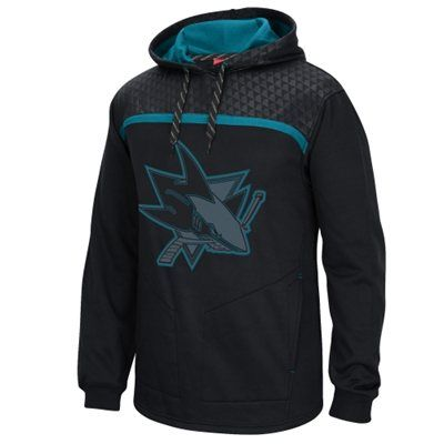 new styles 5e376 9601f San Jose Sharks Reebok Cross Check Pullover Hoodie - Black ...