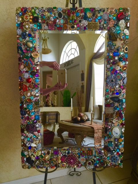 jeweled Mirror by RexannasCreations on Etsy | collares | Pinterest ...