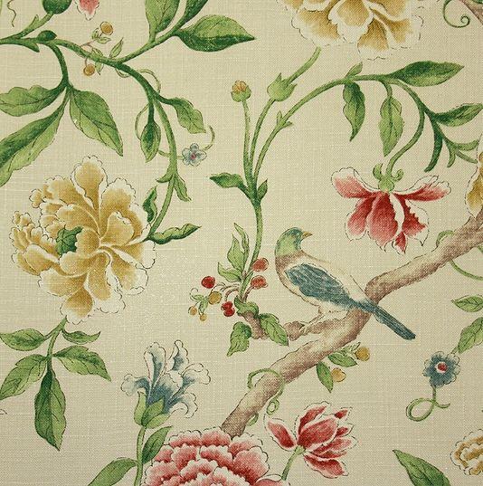 Sanderson Porcelain Garden Fabric 4600 per metre Large design