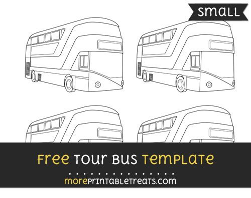 Free Tour Bus Template Small Shapes And Templates Printables