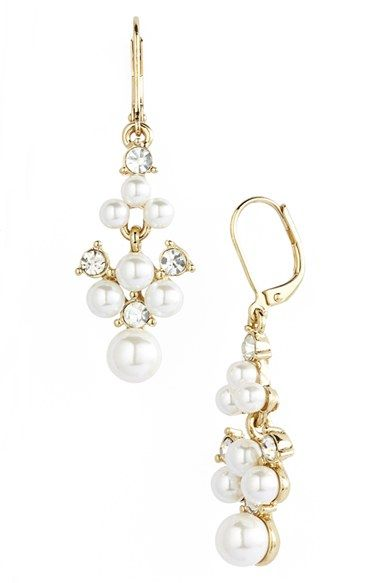 Anne+Klein+Faux+Pearl+Drop+Earrings+available+at+#Nordstrom