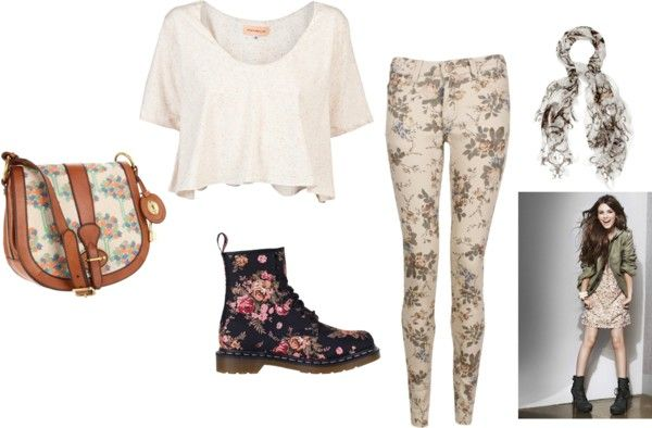 """Floral Theme"" by borntodiebaby ❤ liked on Polyvore"