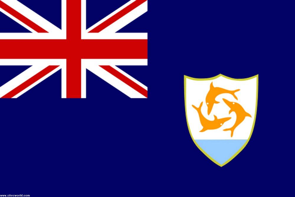 Flag Of Anguilla Anguilla Flag Flags Of The World Flag