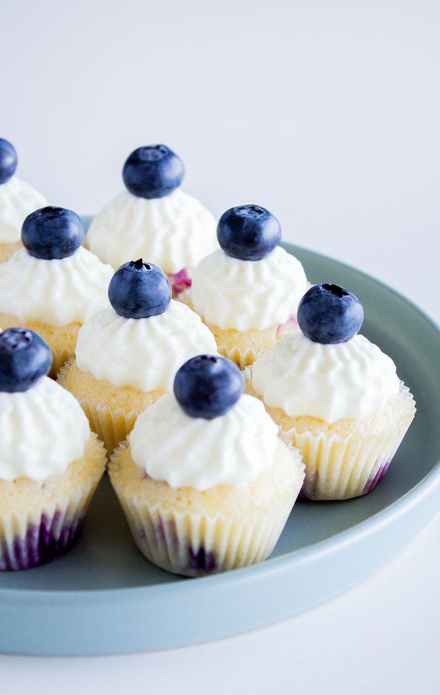 Blaubeer-Zitronen Cupcakes