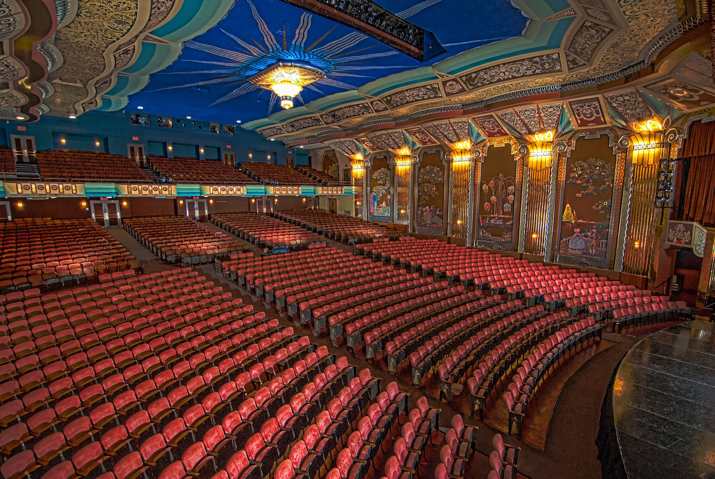 Inside Paramount Theatre From Stage Left Aurora Il Paramount Theater Theatre Life Paramount