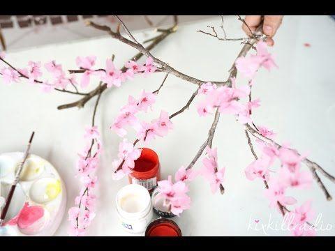 Diy How To Make Miniature Cherry Blossom Tree Youtube Cherry Blossom Tree Blossom Trees Diy Flowers