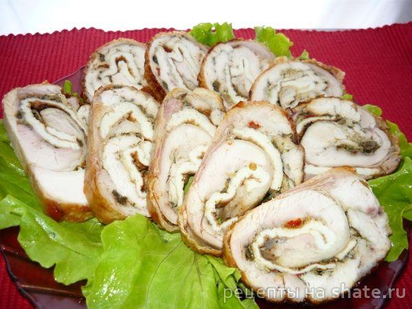 куриные рулетики из окорочков рецепты с фото