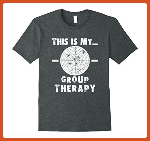 8c854700d1 Mens Shooting is my Group Therapy Gun Support T-Shirt Funny Tee Small Dark  Heather - Funny shirts (*Partner-Link)