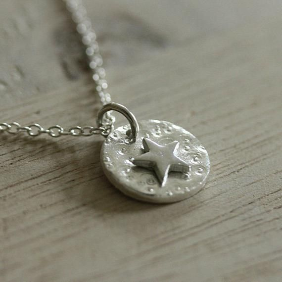 Photo of Items similar to Silver Star necklace, Handmade silver necklace, Star necklace, dainty jewelr…