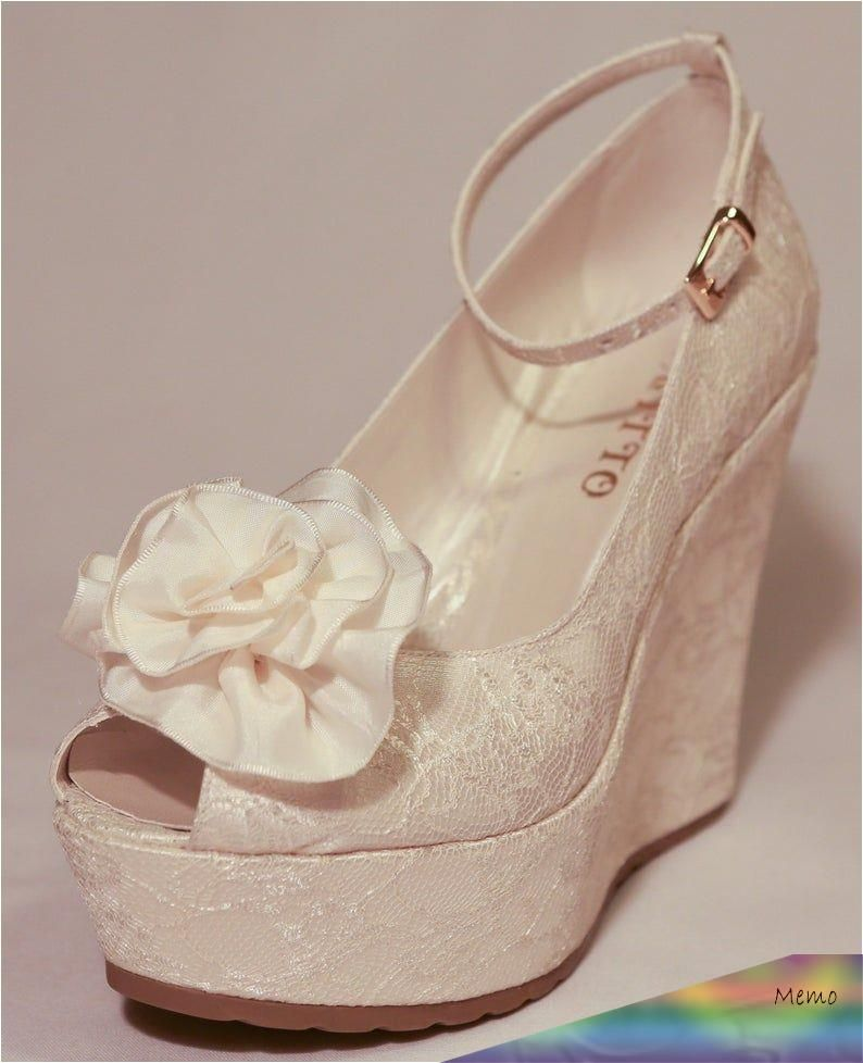 May 4 2020 This Pin Was Discovered By Anastasia Discover And Save Your Own Pins On Pinterest Wedge Wedding Shoes Lace Wedges Shoes Wedding Shoes Heels