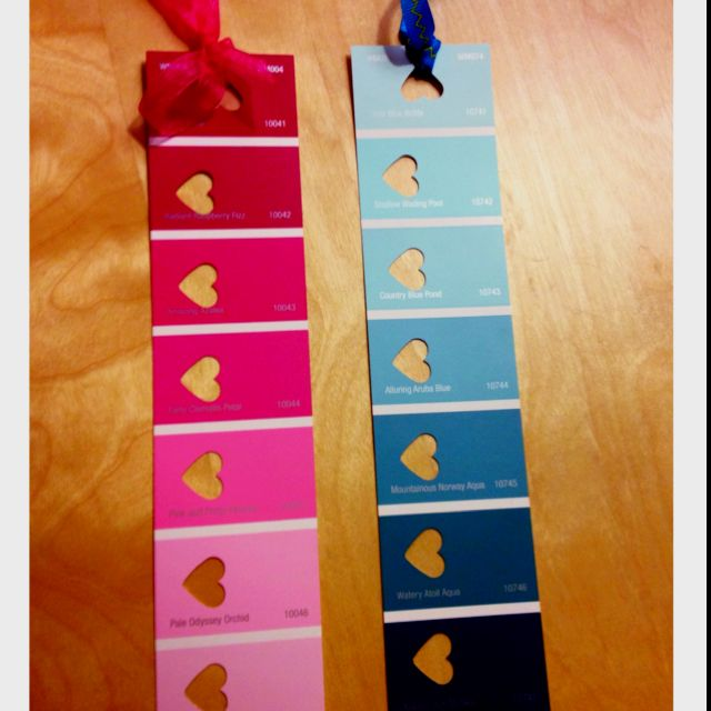 My Bookmarks I made today made with paint sample cards Kaidyn\u0027s