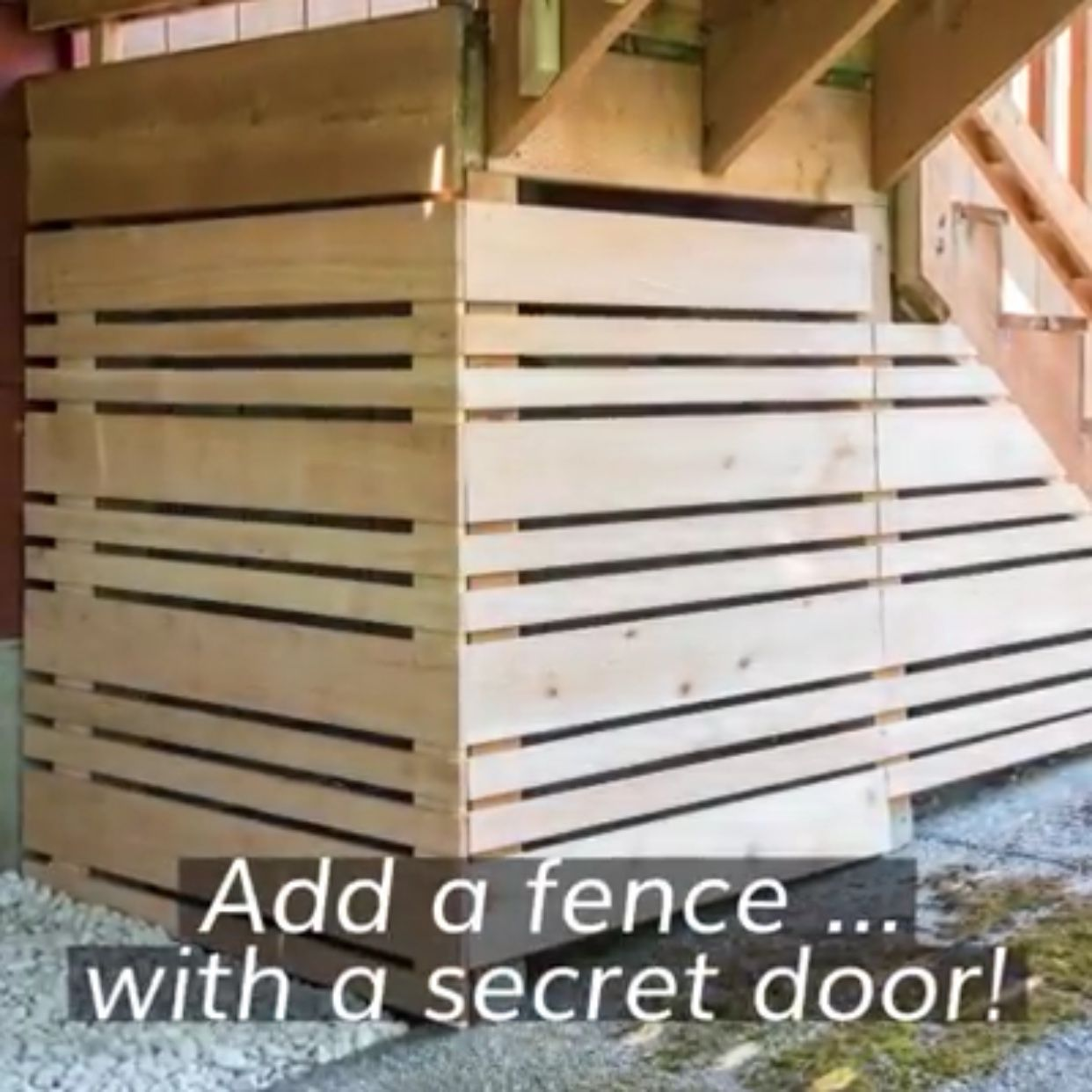 More Modern Enclosure For Under Deck Space In 2020 Under Deck Storage Deck Storage Diy Deck