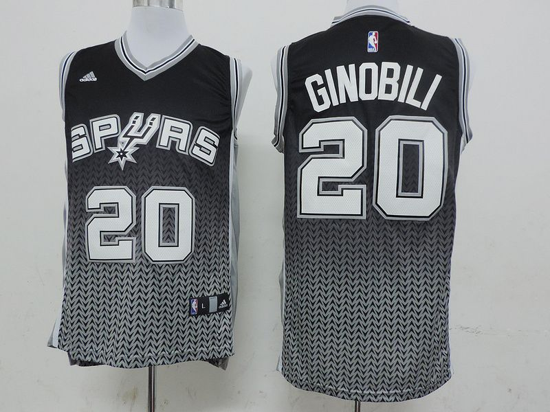 193001d63834 Men s NBA San Antonio Spurs  20 Ginobili Faded Jersey Manu Ginobili