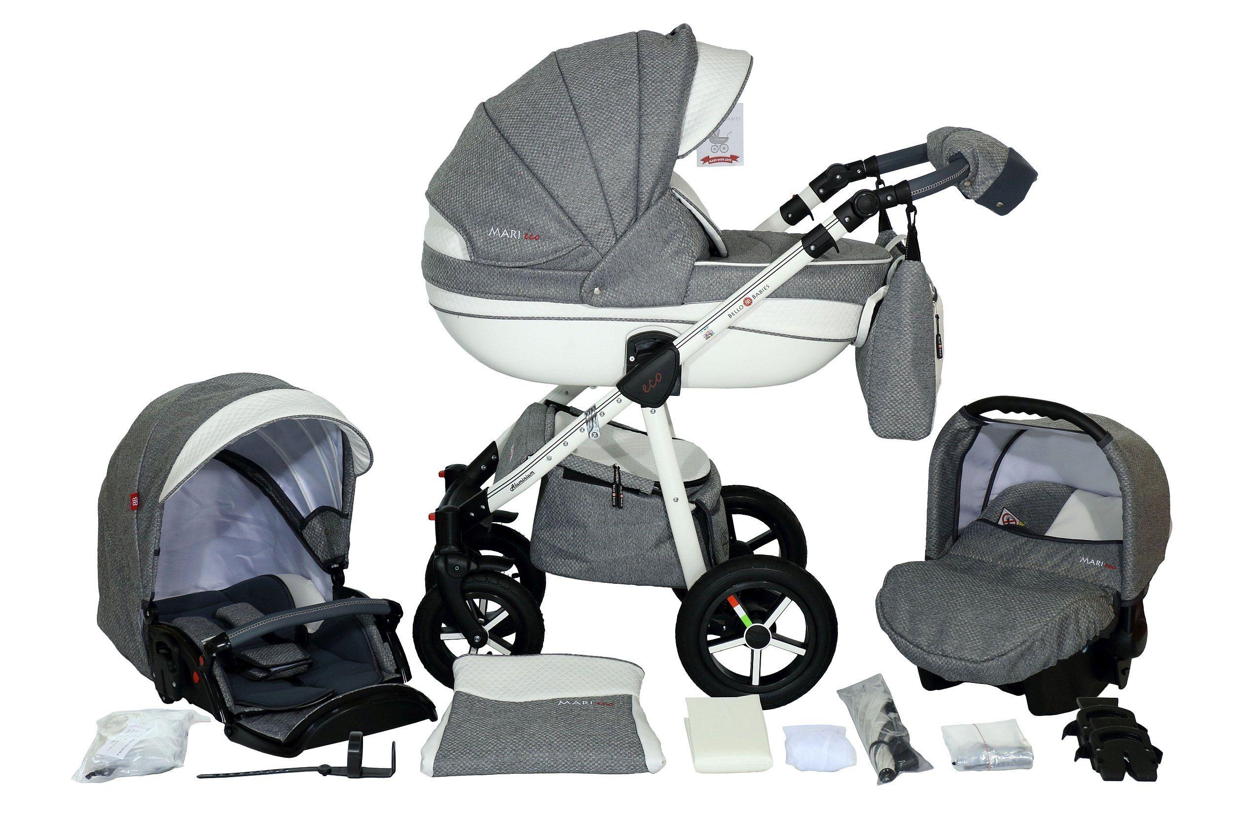 Wozek Dzieciecy Bellobabies Mari Eco 3w1 Akcesoria 7626336096 Oficjalne Archiwum Allegro Stroller Baby Strollers Travel System Car Seats