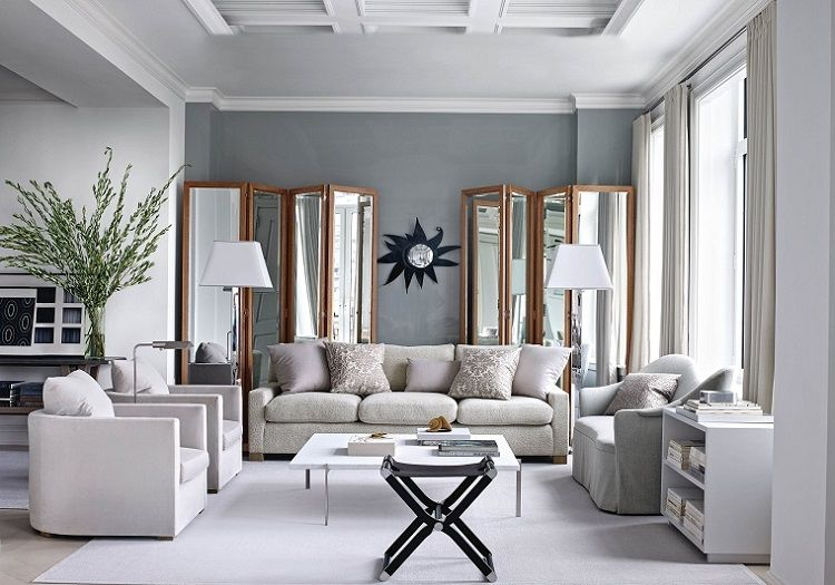Salon gris y blanco - la tendencia de esta temporada - | Home ...
