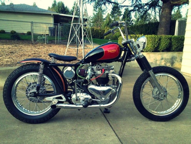 Vintage Triumph Motorcycles - The eBay Collection | Bobbers, Vintage