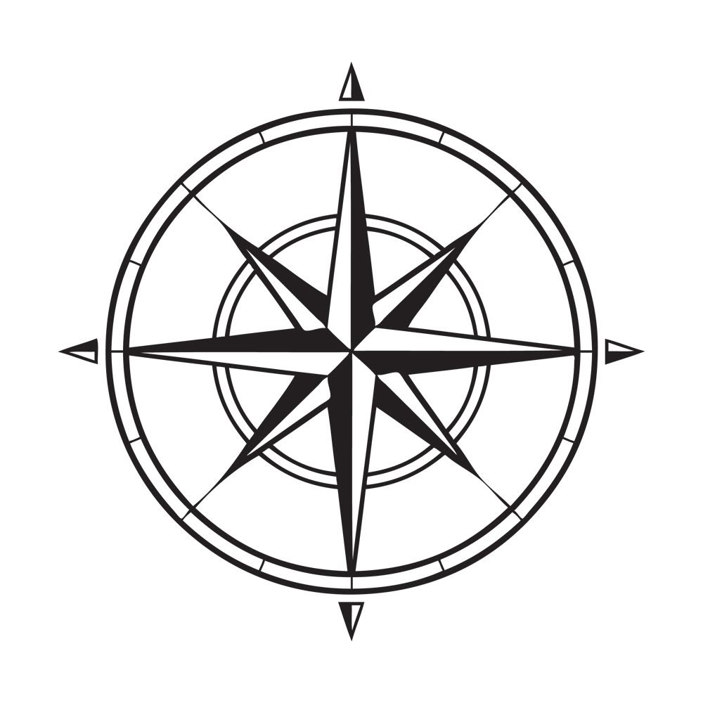 Compass Tattoo Line Drawing : Roses drawings simple line google search nautical
