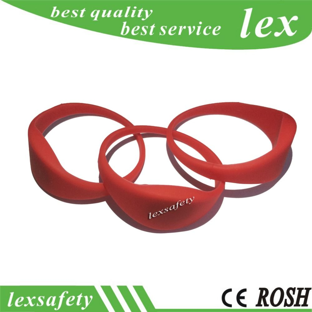 Free samples^^)10pcs Wristband RFID Bracelet ID Card silicon