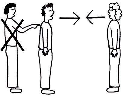 1 . Interrupt ( v ) . 2 . Break conversation between two