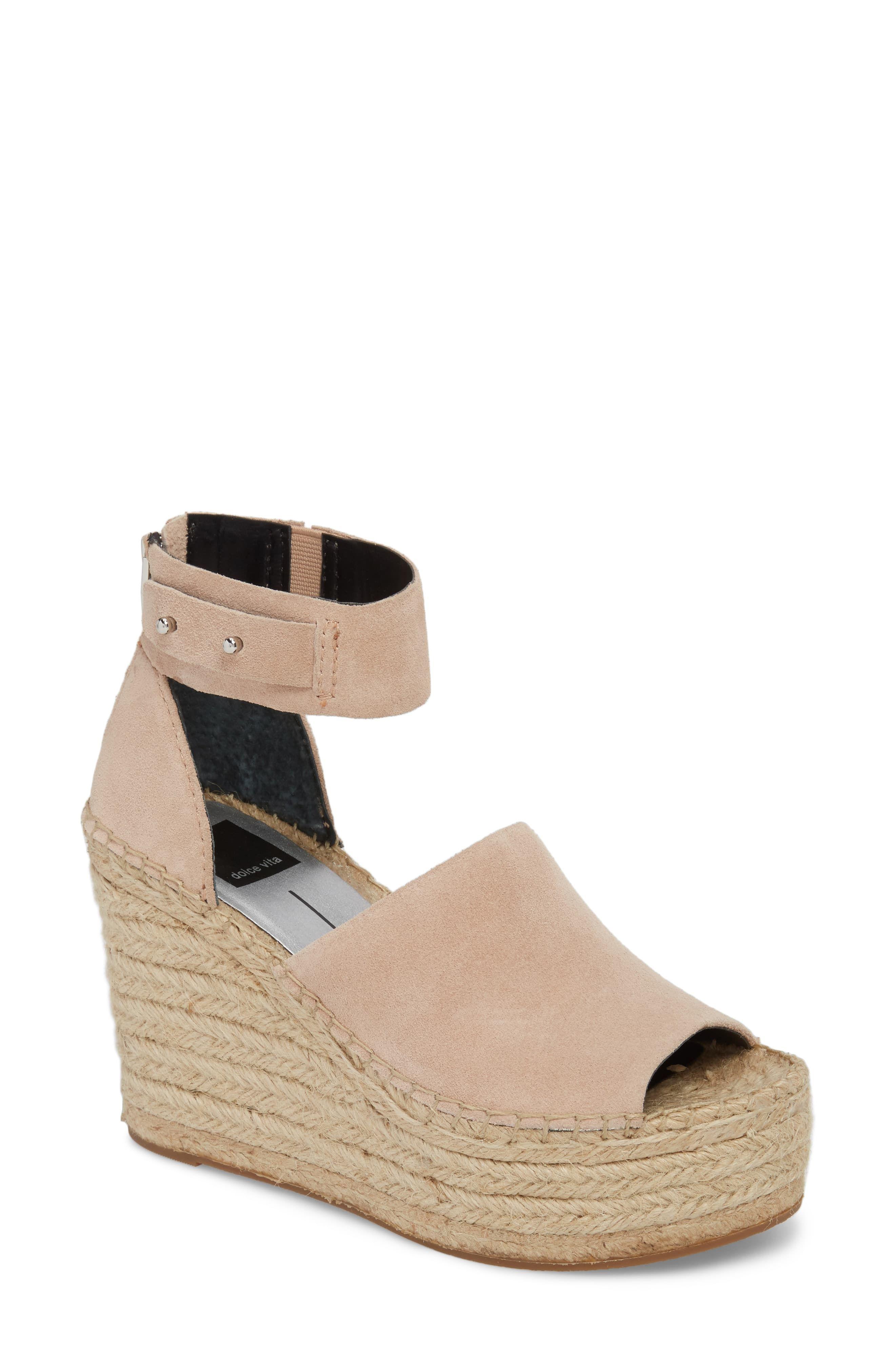 daa6ffaef0e Women's Dolce Vita Straw Wedge Espadrille Sandal, Size 8.5 M - Pink ...