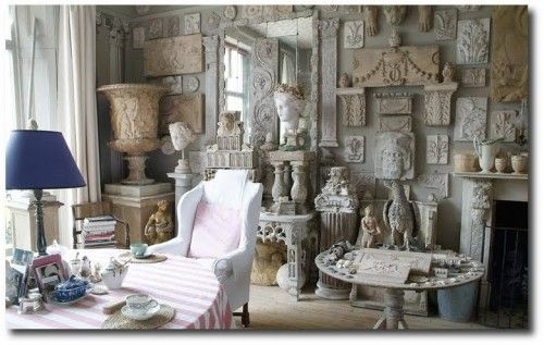 Peter Hone has filled his London flat with urns, busts and architectural fragments collected from his travels as one of England's leading dealers of garden furniture and antiques