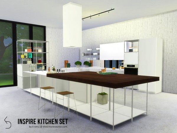 The Sims Resource Inspire Kitchen Set By K Omu Sims 4 Downloads