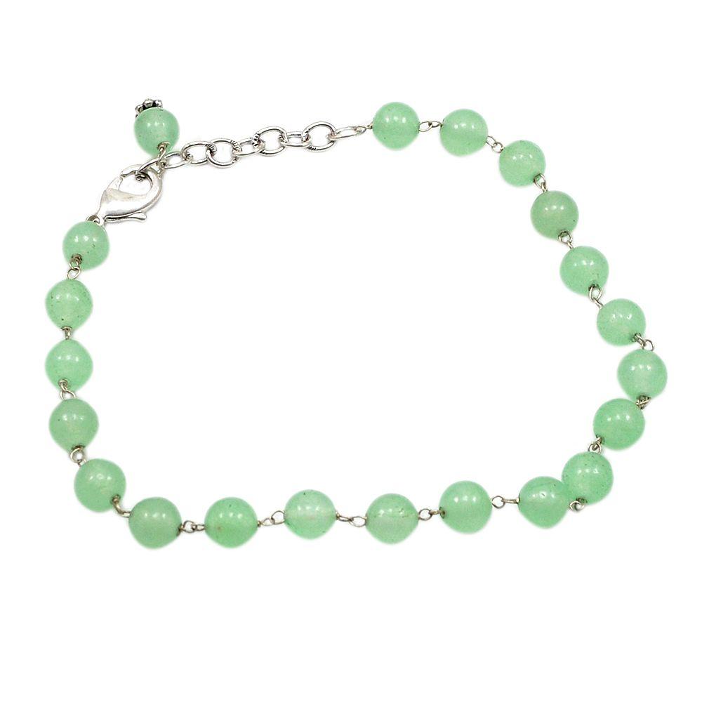 Silvestoo india green quartz gemstone bracelet pg