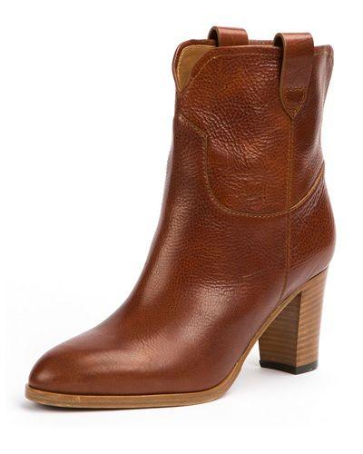June Antiqued Short Ankle Boot